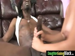 taut young legal age teenager takes large black