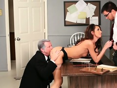 beauty taking cock from one as well as the other