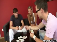 czech blonde angel cheats as her bf leaves