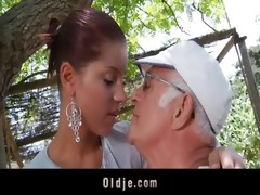 big dong oldman bonks his much younger hot