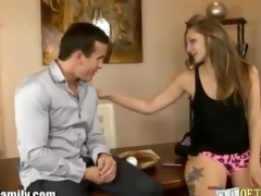 real daddy has sex with hot youthful daughter for
