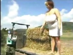 harvesting the farmers large daughter by
