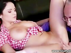 old stud banging younger girls vagina