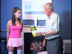grandpa punishes a cutie
