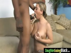 constricted youthful teen takes big darksome