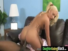 tiny daughter bonks biggest dark rod 23