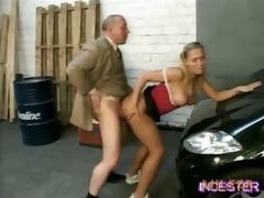 dad fucked hawt daughter in garage