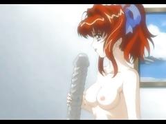 bondage anime girl receives fingered by her
