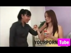 asian mother and daughter blow job lesson