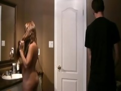 nerd brother fucks step-sister in bathroom