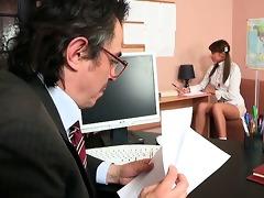 3some lesson with elderly teacher