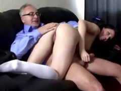 sexually excited school cutie acquires pussy