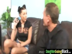 youthful daughter gets pounded by large black