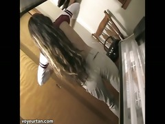 watch tiny teen petite alisha get caught on