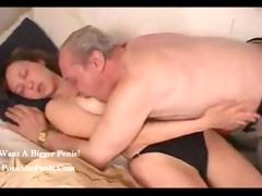 russian old man nailed his granddaughter,,...