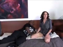 mother creampied by darksome dude while son is