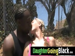 recent black stepdad punishes sexy daughter for