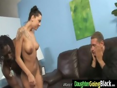 taut youthful legal age teenager takes big black