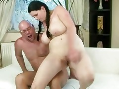 fortunate grand-dad fucking with breasty legal