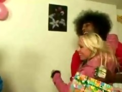 lewd teens disrobe at party