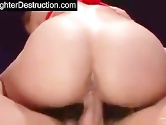 cute asian daughter drilled hard