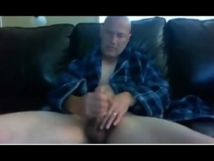 horny hot dad jerkin and shootin cum