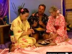 threesome with an asian schoolgirl