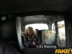 faketaxi youthful blond sucks an old taxi mans