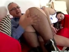 favourable old man fucks young pussy