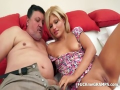 a hot blond hotty for old gramps