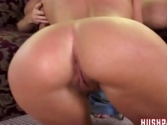 her daddy nearly catches her fucking a big dick!