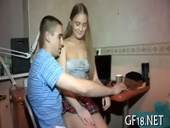 she is plays with large wang of boy