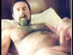 fuckin sexy brawny furry dad discharges load