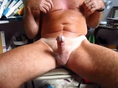grandad handles his 75 year old circumcised cock