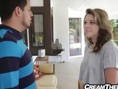 stepsister gets creampie by big ramrod