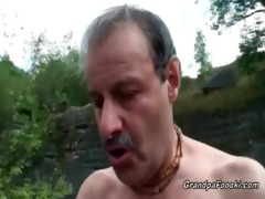 superb honey rides grandpa&#039 s pecker in