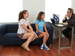 tricky old teacher fucked teen students with tiny