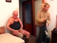 grandpa plays chess and copulates a young girl