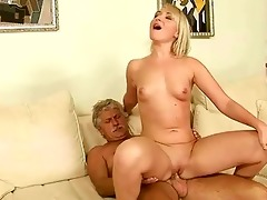 old fellow fucks hot young blonde