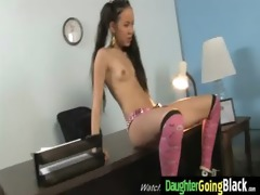 young daughter gets pounded by big dark pecker 3