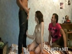 nice gangbang with legal age teenager angel